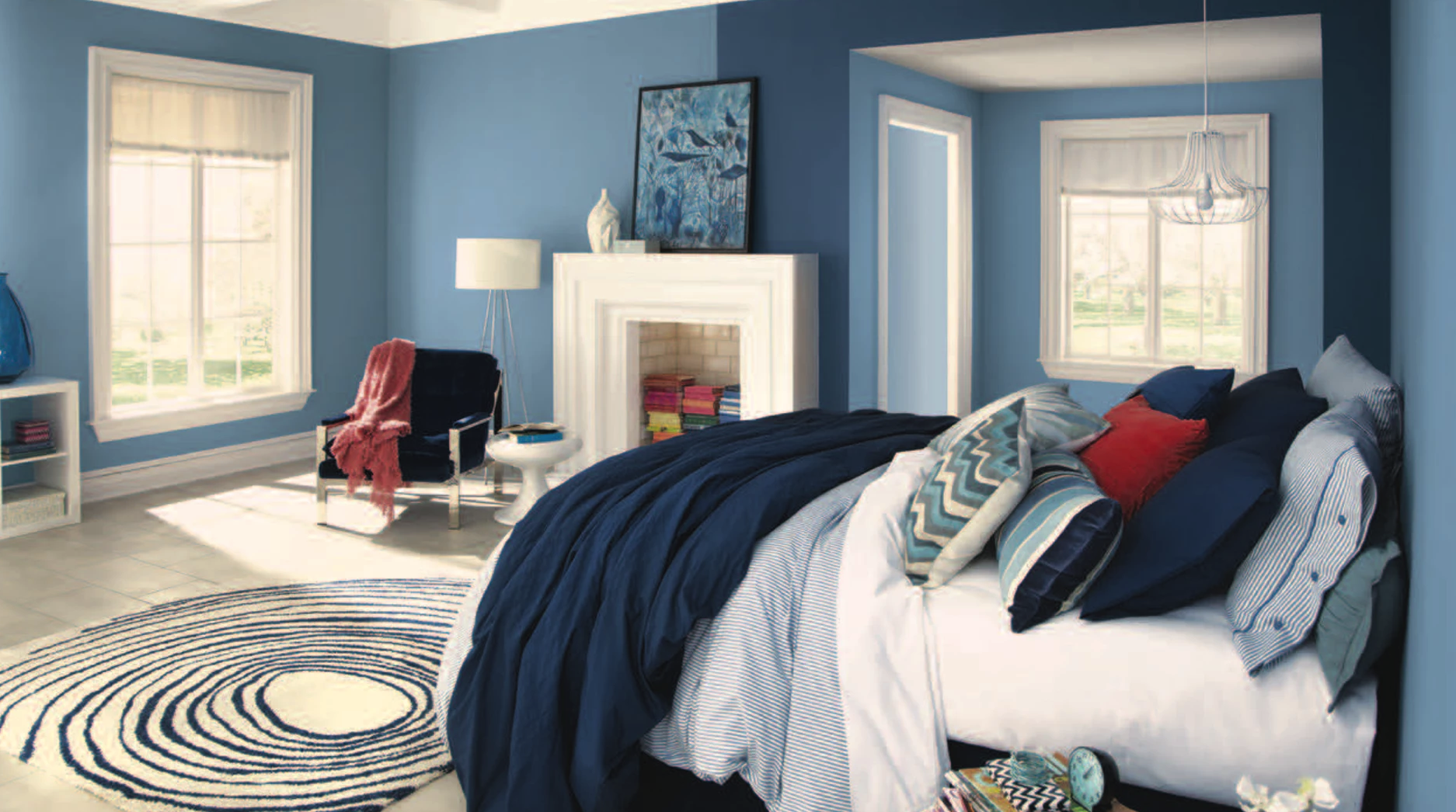 Blue can help make a room feel larger